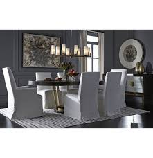 Dining Room Chair Slipcovers With Arms by Julia Tall Arm Dining Chair Slipcover