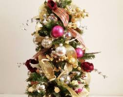 Decorated Tabletop Christmas Trees by Table Top Tree Etsy