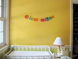 Letters For Baby Nursery Felt Letters For Clementine U0027s Room Made By Rae