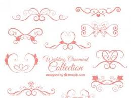 wedding floral ornament collection free vectors ui
