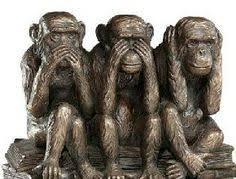 three wise monkeys by toldart illustration