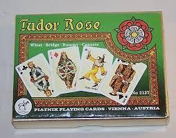 7 decks piatnik cards 10 each botticelli