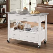 kitchen furniture ottawa acme furniture ottawa stainless steel white mdf kitchen cart
