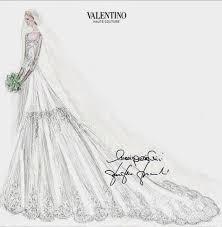 elisabetta maria rosboch von wolkenstein u0027s wedding dress sketch by