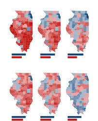 chicago voting map illinois presidential vote results by county chicago tribune