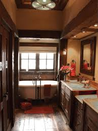 bathroom rustic elegant bathroom with modern soak tub and