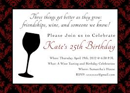 printable birthday party invitation 5 x 7 wine themed