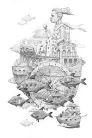 Mural Painting Sketches by Surreal Drawings Paintings And Murals By Rustam Qbic Colossal