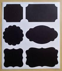 Kitchen Storage Labels - 6 12 24 36 48 chalkboard blackboard stickers jar kitchen storage