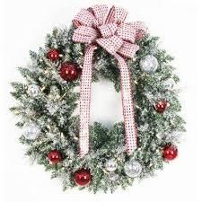 battery christmas wreaths u0026 garland christmas decorations