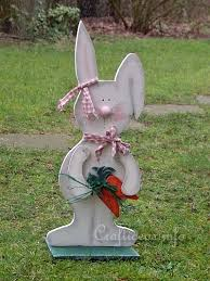 free and easter wood craft large wooden bunny with carrots