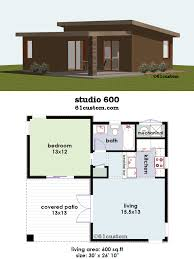 Tiny House Plan by Studio400 Tiny Guest House Plan 61custom Contemporary