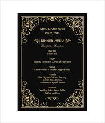 menu card templates 25 wedding menu templates free sle exle format