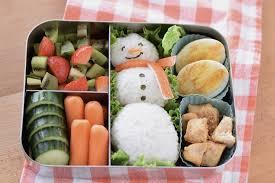 snowman rice ball bento beneficial bento