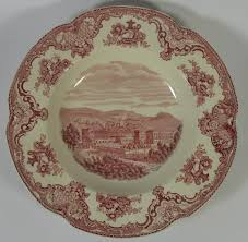 vintage 1930 s johnson brothers britain castles pink 8 soup