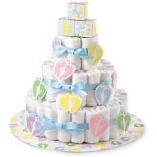 how to make a baby shower diaper cake by yourself