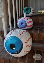eyeball painted pumpkins diy club chica circle where crafty is