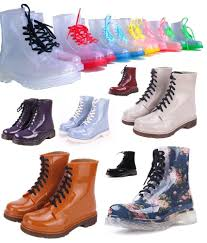 rain boots color soles or solid jelly shoes lace up waterproof