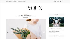 voux minimal u0026 responsive blogger template themexpose