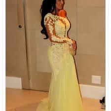 pretty yellow prom dresses dress on sale