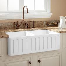 Northing DoubleBowl Fireclay Farmhouse Sink White - Fireclay apron front kitchen sink