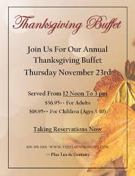 the flanders hotel thanksgiving buffet