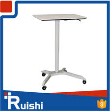 height adjustable standing laptop stand desk with wheels buy