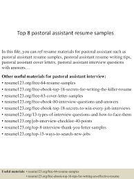Sample Pastoral Resume by Top8pastoralassistantresumesamples 150507085844 Lva1 App6891 Thumbnail 4 Jpg Cb U003d1430989175