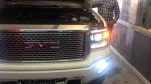 led lights for 2014 gmc sierra auto impressions gmc denali truck hids top leds in the fo youtube