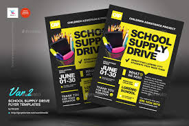 drive brochure templates school supply drive flyer templates by kinzi21 graphicriver