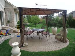 Patio Gazebo Ideas by Patio With Metal Gazebo And Curtains Useful Outdoor Gazebo