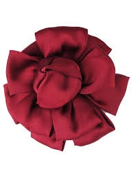 flower hair clip burgundy soft fabric flower hair clip pin brooch hair
