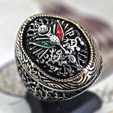 Ottoman Empire Jewelry 925 Sterling Silver Mens Ring Ottoman Empire Coat Of Arms Turkish