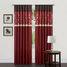 Living Room Curtains Overstock Amazon Com Lush Decor Cocoa Blossom Curtain Panel Pair 42 Inch