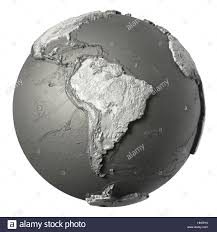Topographical Map Of South America by 3d Map Of Latin America Stock Image Image 13549741 Realistic