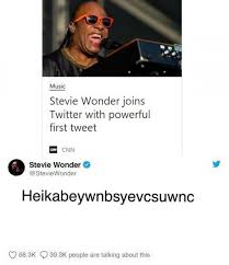 Tweet Meme - stevie wonder joins twitter with powerful first tweet meme xyz