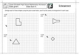 ks3 enlargement by a scale factor worksheet by jlcaseyuk
