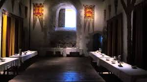 Dining Room In Henry IIs Great Tower Dover Castle YouTube - Castle dining room