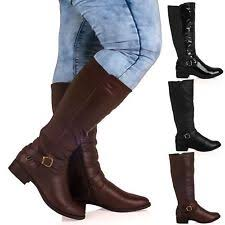 womens knee length boots uk s knee high boots ebay