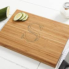 cutting board personalized personalized bamboo cutting board chef s monogram