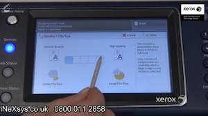 how to use the scan to email advance settings tab xerox 5300