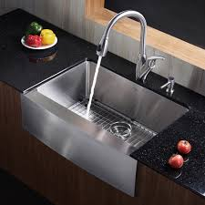 Kitchen Convenient Cleaning With Stainless Steel Farm Sink - Stainless steel kitchen sink cleaner