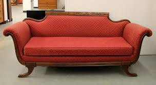 found in ithaca vintage duncan phyfe style sofa sold