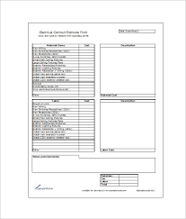 6 contractor estimate templates u2013 free word excel u0026 pdf