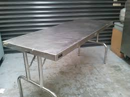 Stainless Steel Folding Table Folding Table 1800x700mm Stainless Steel Chef39s Hire Stainless