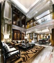 interior illustration and visualization watercolor illustration