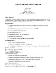 What Are Some Good Career Objectives Objective Resume Examples Entry Level