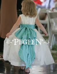 Tiffany Blue Flowers Flower Dresses Of The Year In Tiffany Blue And White Pegeen