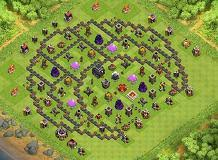 big clash of clans base big d s maze th9 trophies base by donovanneb clash of clans