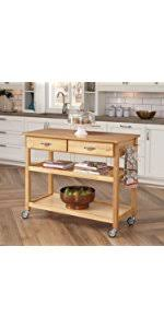dolly kitchen island cart home styles 5216 95 solid wood top kitchen cart